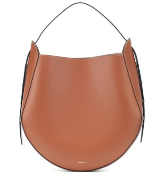 Wandler Corsa leather tote in brown