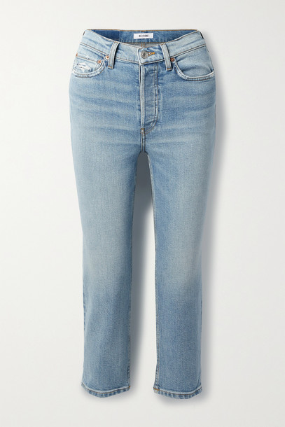 RE/DONE - Comfort Stretch High-rise Extra Crop Skinny Jeans - Blue