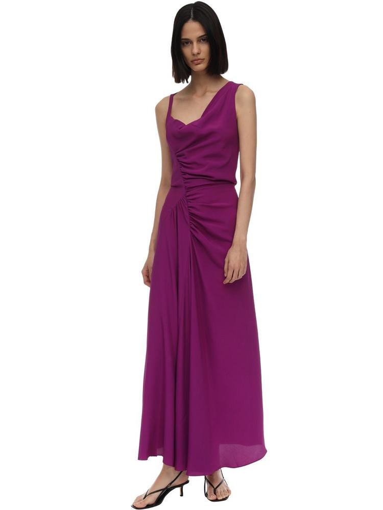 ATLEIN Lvr Exclusive Crepe De Chine Dress in purple