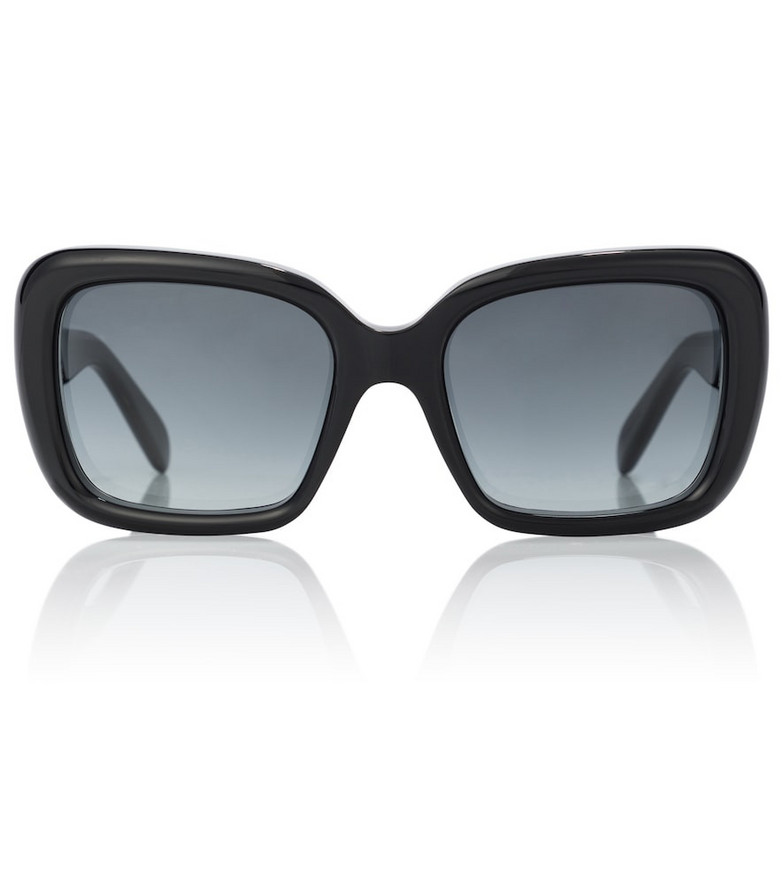 Celine Eyewear Rectangular acetate sunglasses in black