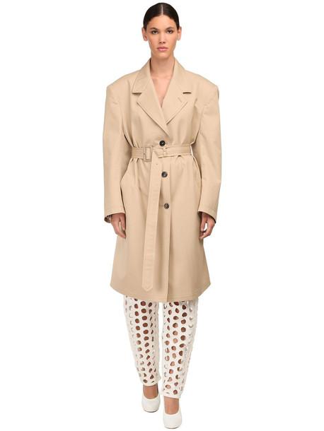 MAISON MARGIELA Cotton Canvas Trench Coat in beige