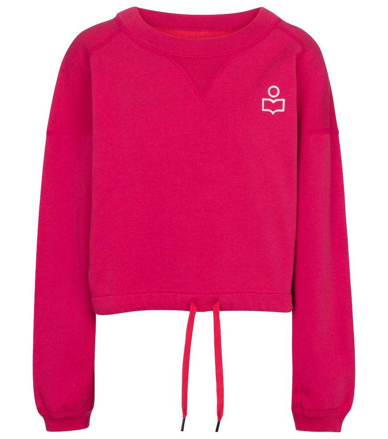 Isabel Marant Margo cotton jersey sweatshirt in pink
