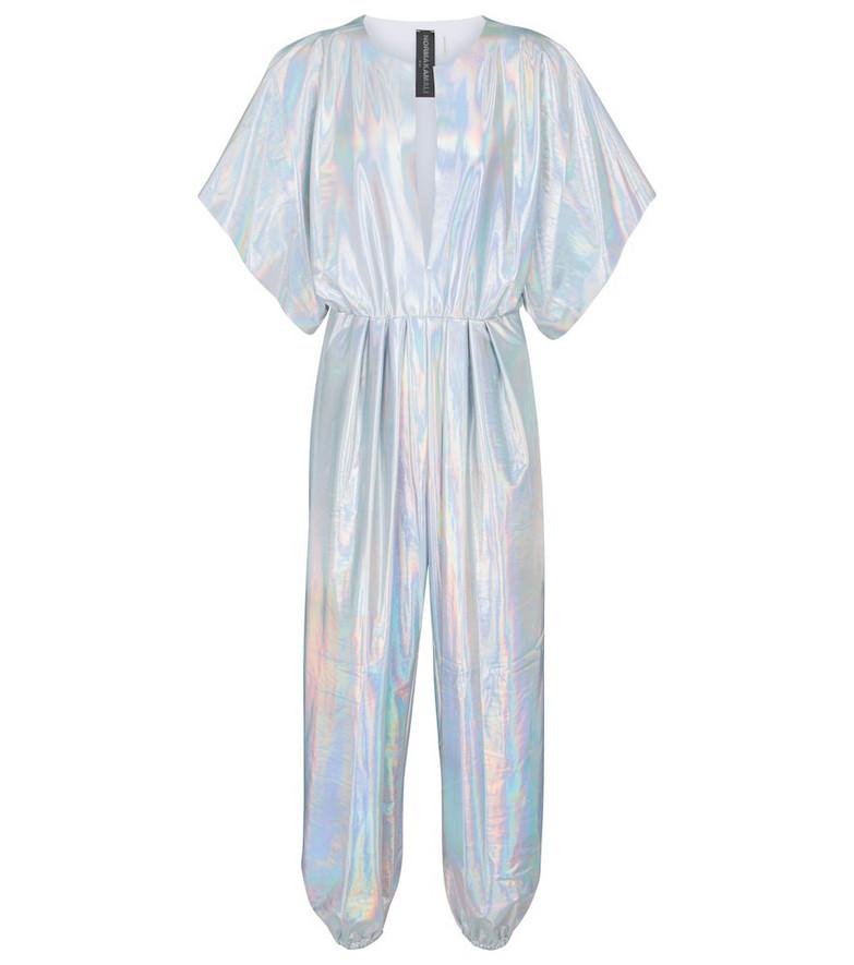 Norma Kamali Rectangle Jog jumpsuit in silver