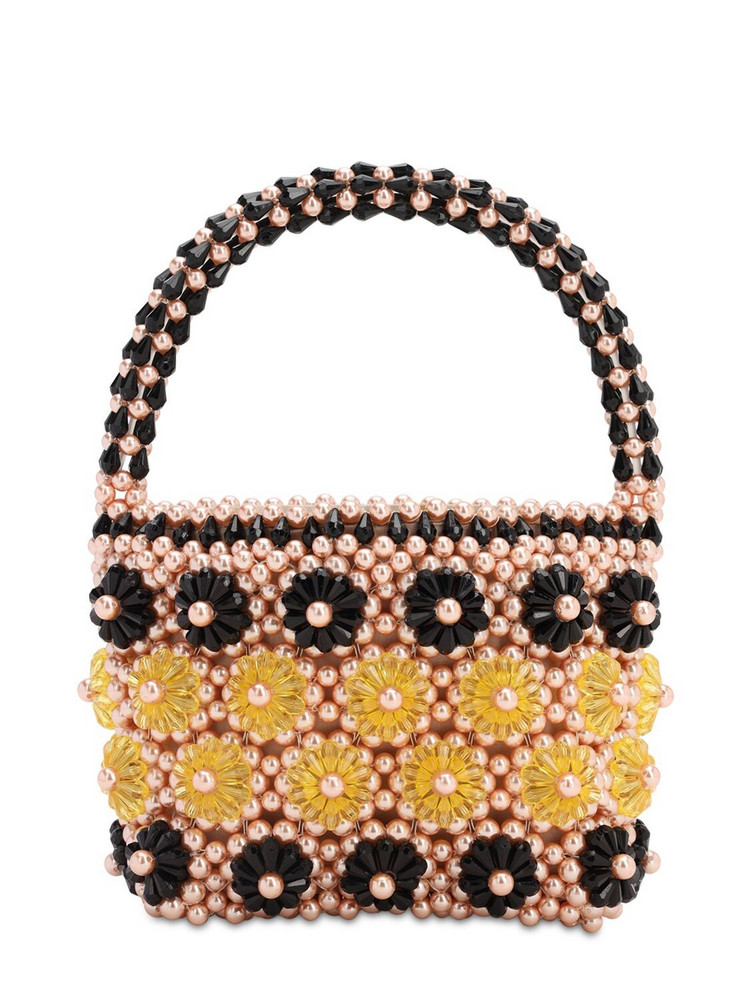 SHRIMPS Shelly Beaded Top Handle Bag in black