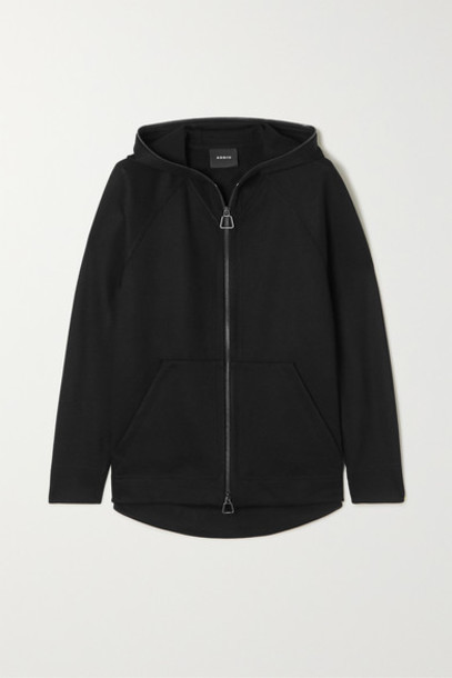 Akris - Flava Hooded Stretch-jersey Track Jacket - Black