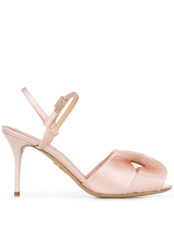 Charlotte Olympia Drew slingback sandals in pink