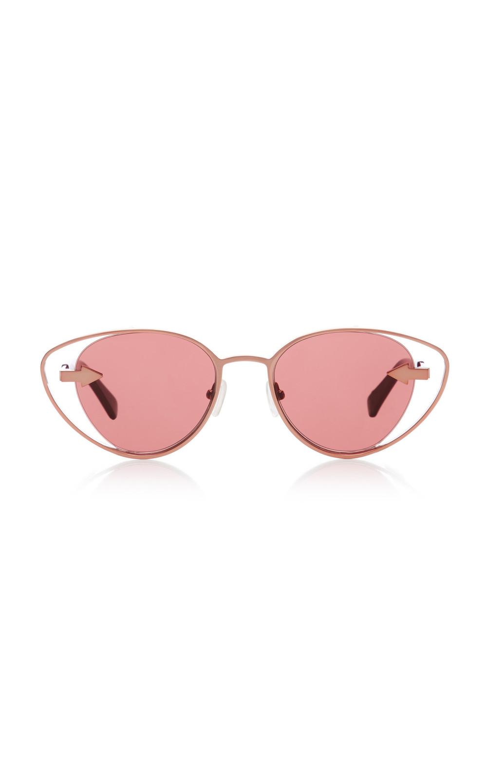Karen Walker Kissy Kissy Cat-Eye Sunglasses in pink