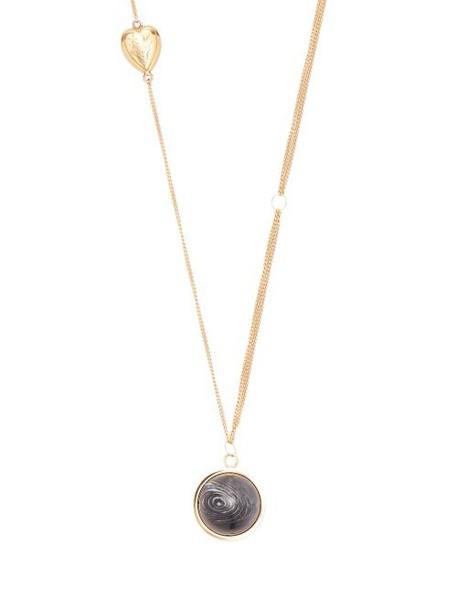 Burberry - Stone Sphere & Heart Charm Gold Plated Necklace - Womens - Gold