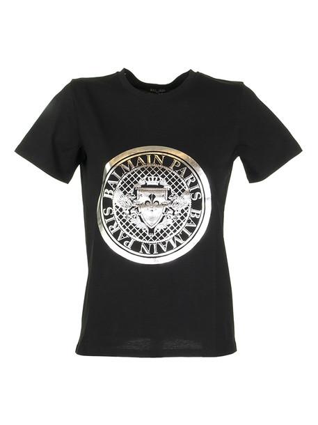 Balmain T-shirt Noir/argent