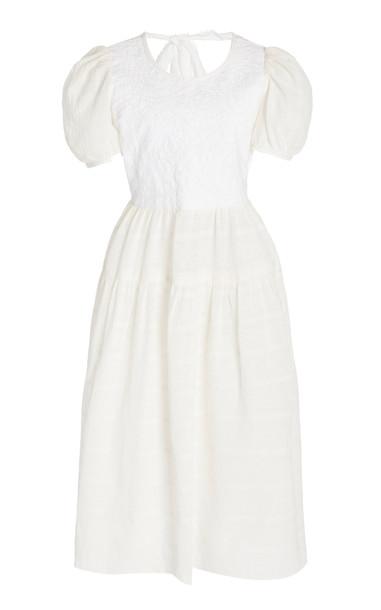 Alix of Bohemia Copenhagen Quilted Cotton Dress in white