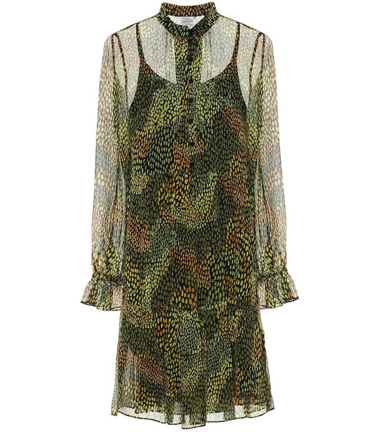 Baum und Pferdgarten Ajay printed chiffon minidress in green