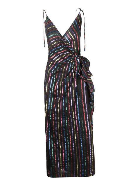 The Attico Striped Midi Dress