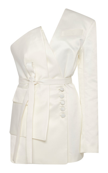 MATÉRIEL One Shoulder Blazer Size: M in white