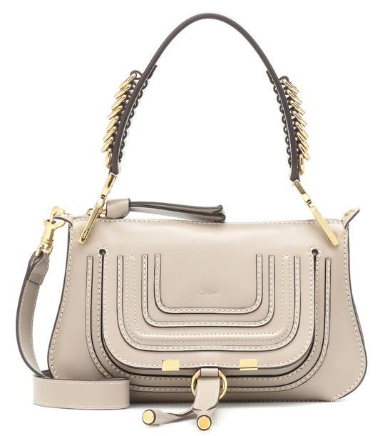 Chloé Marcie leather shoulder bag in grey