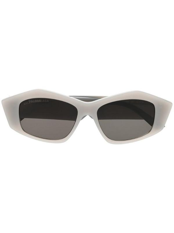 Balenciaga Eyewear tinted rectangular-frame sunglasses in grey