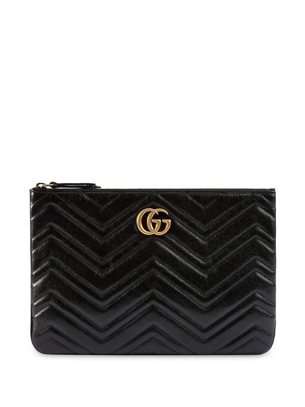 Gucci GG Marmont clutch in black
