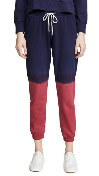 Splits59 Charlie Ombre Sweatpants in indigo / crimson