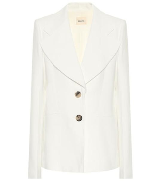 Khaite Alexis stretch-twill blazer in white