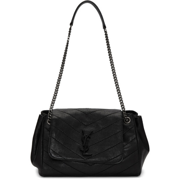 Saint Laurent Black Small Quilted Nolita Bag
