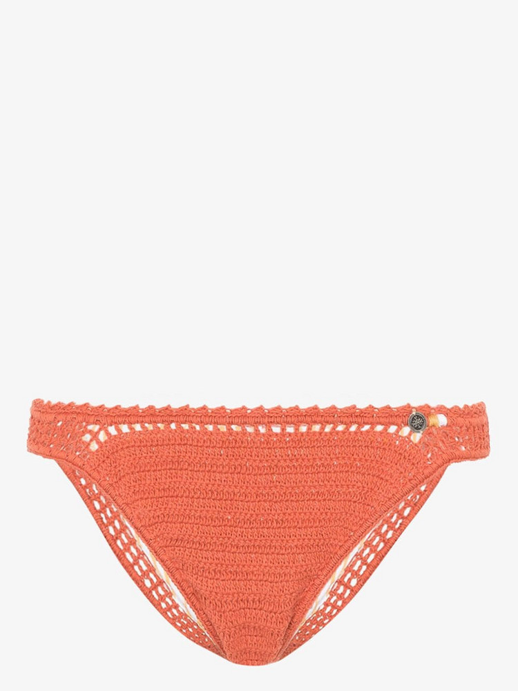 She Made Me classic crochet bikini bottoms in orange