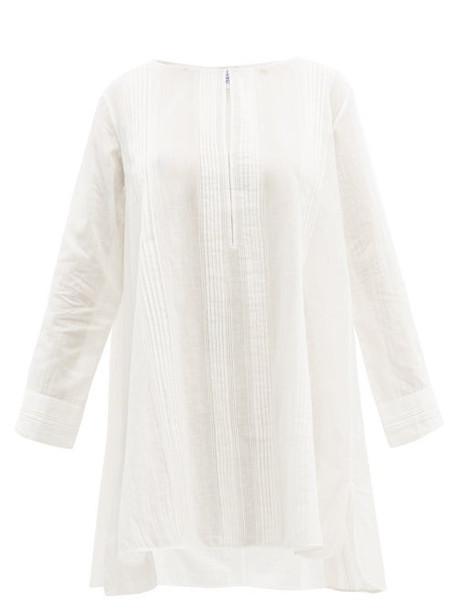Thierry Colson - Samia Pintuck Cotton Mini Dress - Womens - White