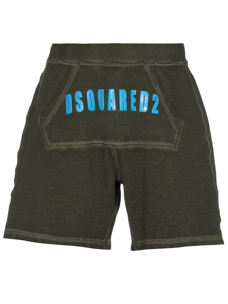 Dsquared2 Cotton Shorts in green