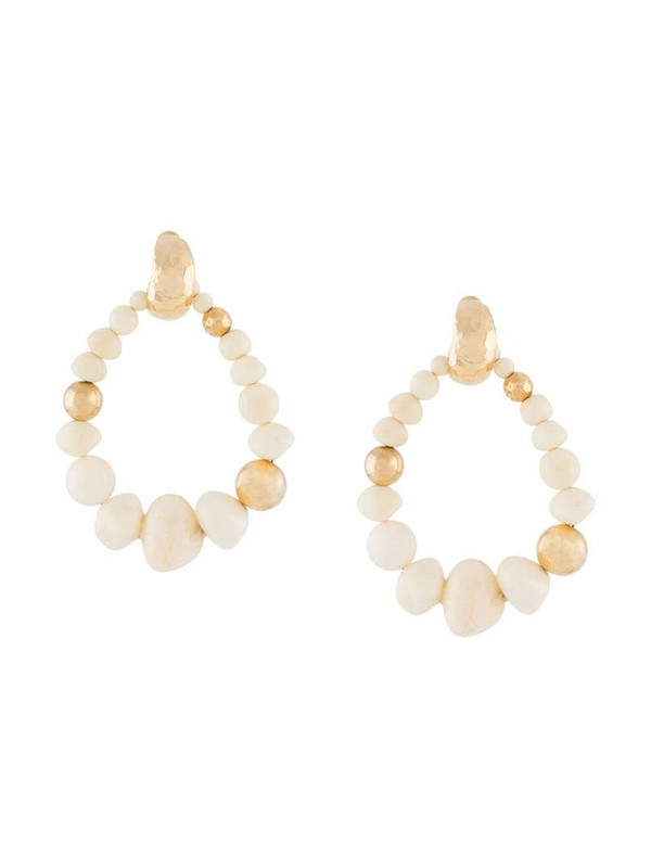 Gas Bijoux Biba beaded earrings in white