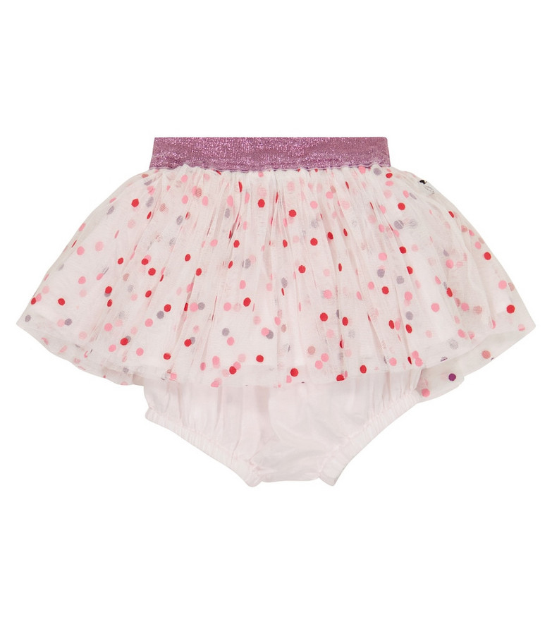 Stella McCartney Kids Baby polka-dot tulle skirt in white