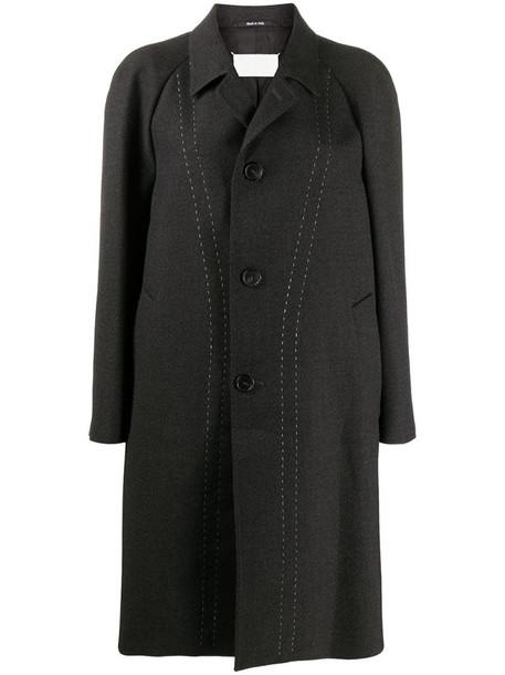 Maison Margiela oversized single-breasted coat in grey