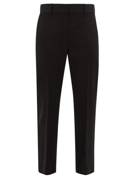 Haider Ackermann - Satin Waistband Slit Ankle Wool Blend Trousers - Womens - Black