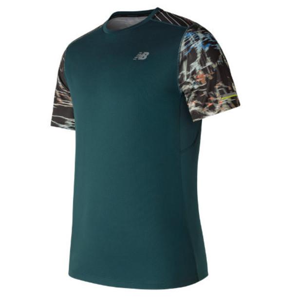 New Balance 71224 Men's NB Ice Printed Short Sleeve - Green/Black (MT71224SCK)