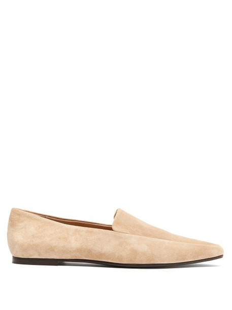 The Row - Minimal Suede Loafers - Womens - Beige
