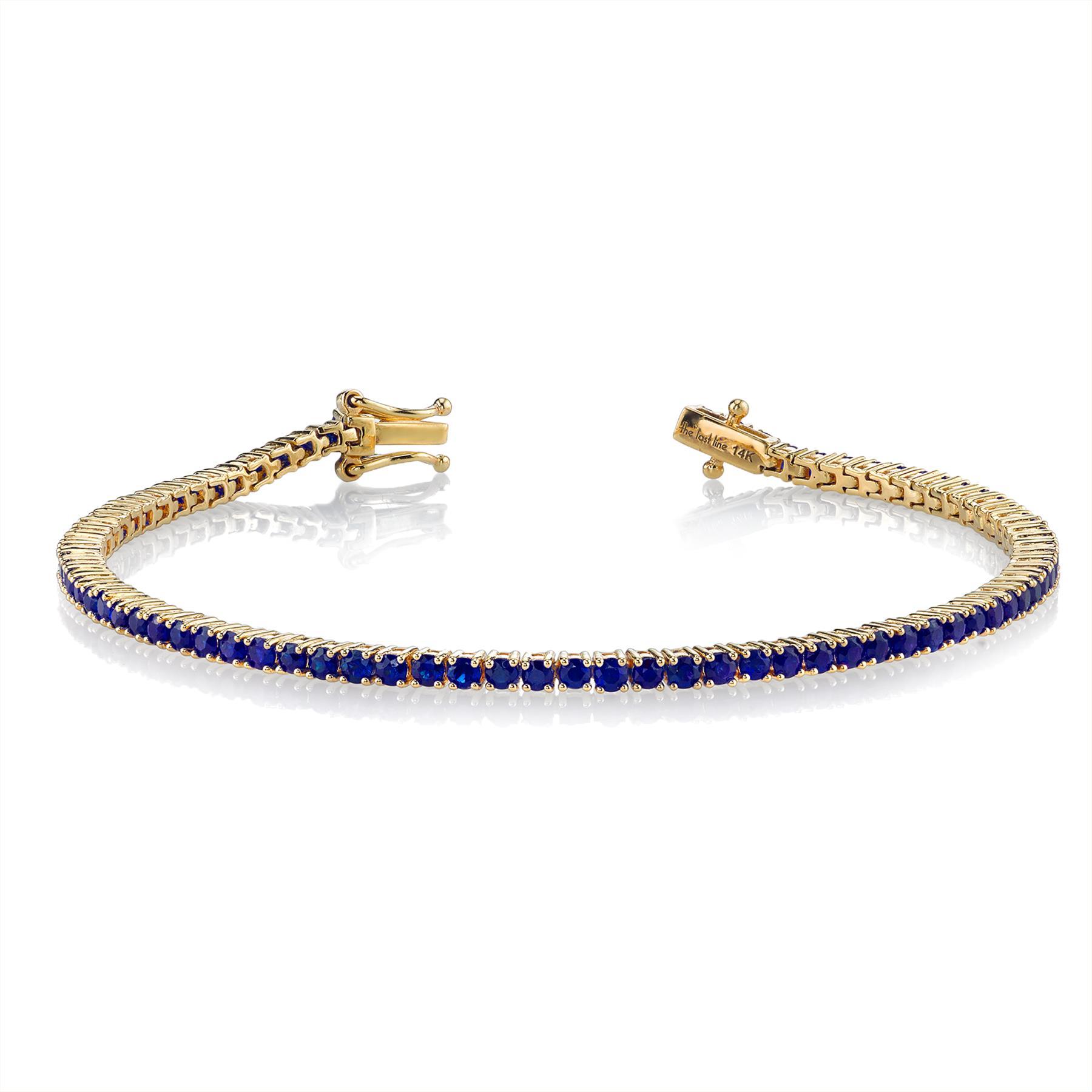 PERFECT BLUE SAPPHIRE TENNIS BRACELET