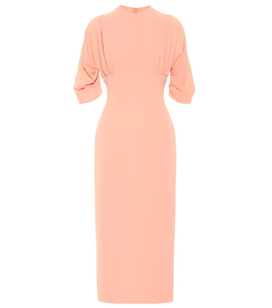 Emilia Wickstead Helga crêpe midi dress in pink