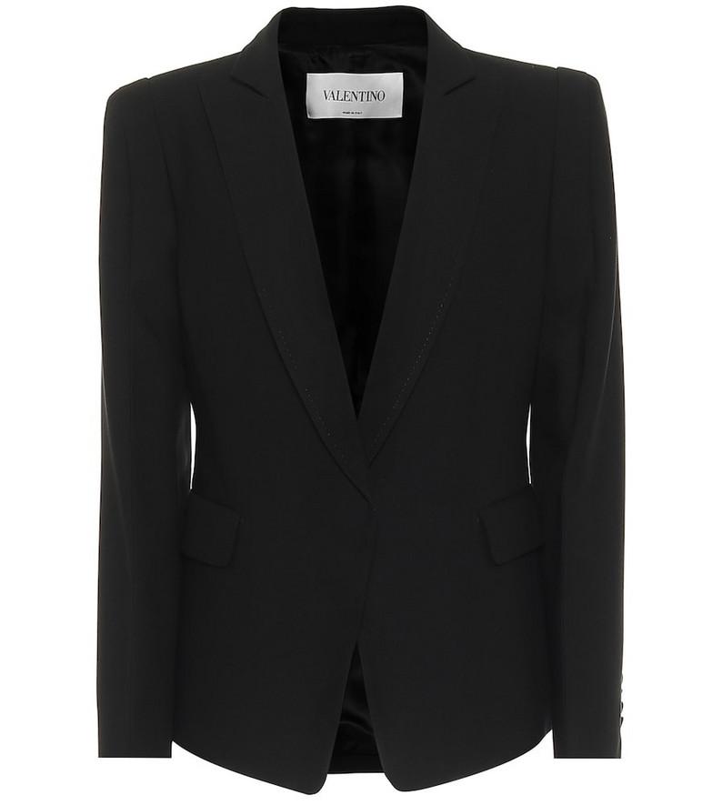 Valentino Silk twill blazer in black