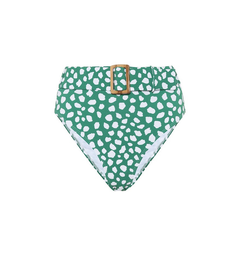 Alexandra Miro Exclusive to Mytheresa – Clara leopard-print bikini bottoms in green