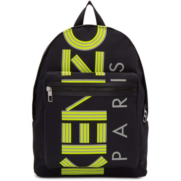 Kenzo Black Large Reflective Logo Backpack