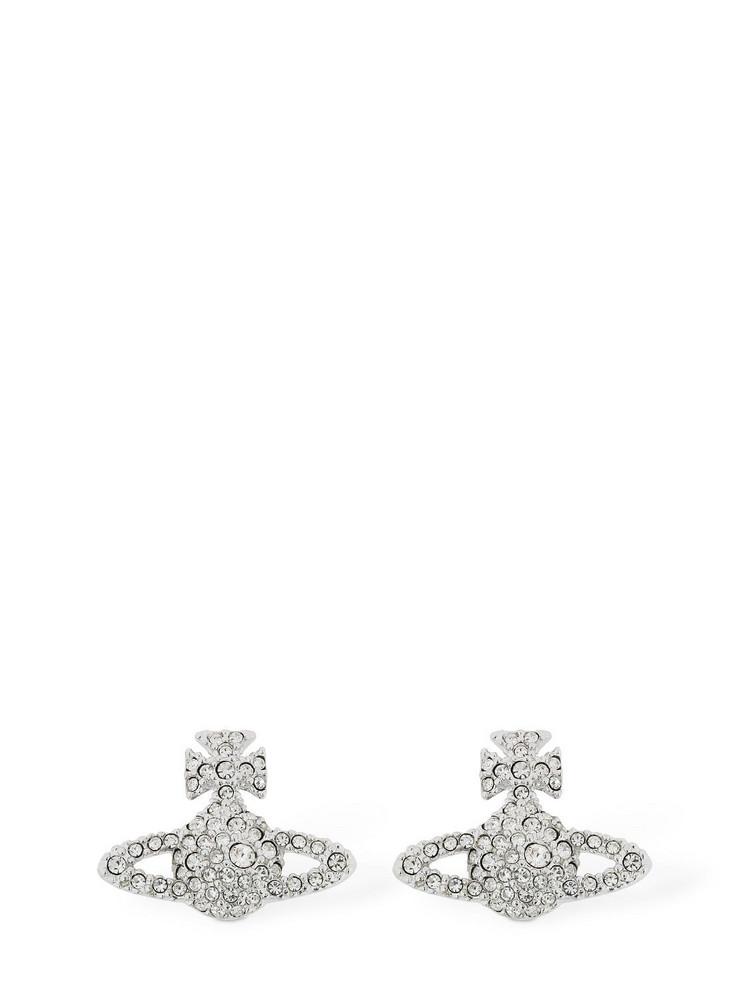 VIVIENNE WESTWOOD Grace Bas Relief Stud Earrings in silver