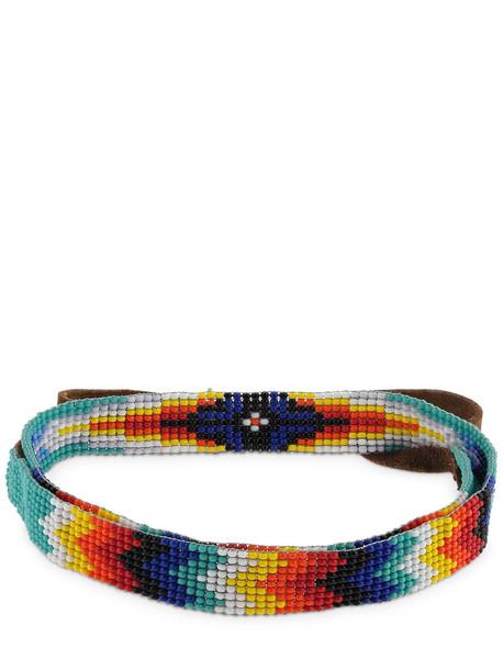 JESSIE WESTERN Bband Wide Short Bead Necklace in blue