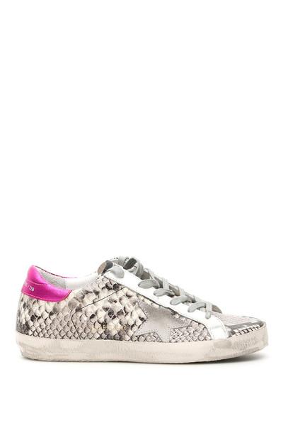 Golden Goose Python Print Superstar Sneakers