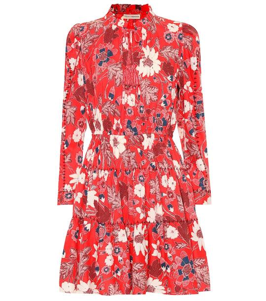 Ulla Johnson Liv floral patchwork minidress in red
