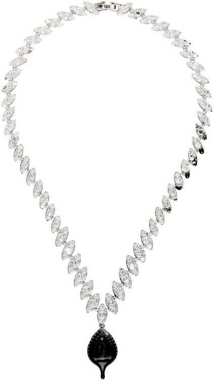 Ottolinger Silver Drip Necklace in black