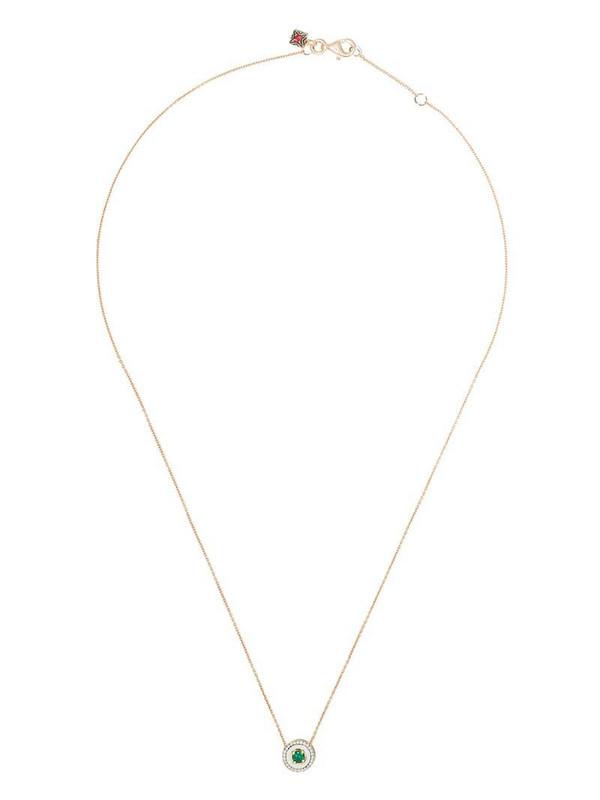 Selim Mouzannar 18kt rose gold diamond emerald Mina necklace in pink