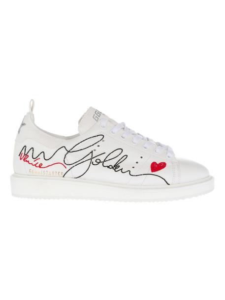 Golden Goose Deluxe Brand Starter Sneakers in white