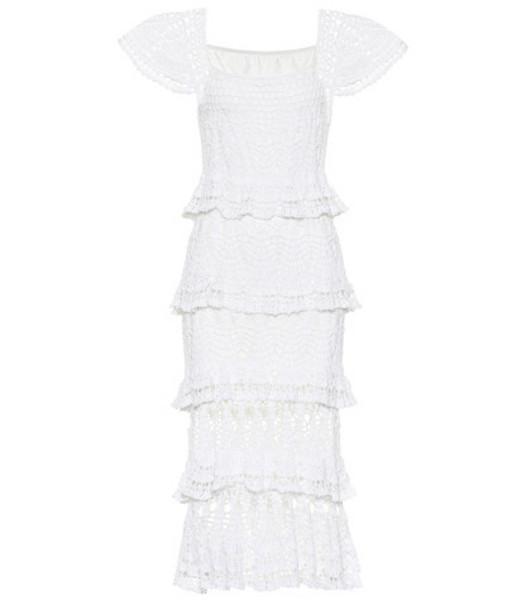 Anna Kosturova Cotillion crochet maxi dress in white