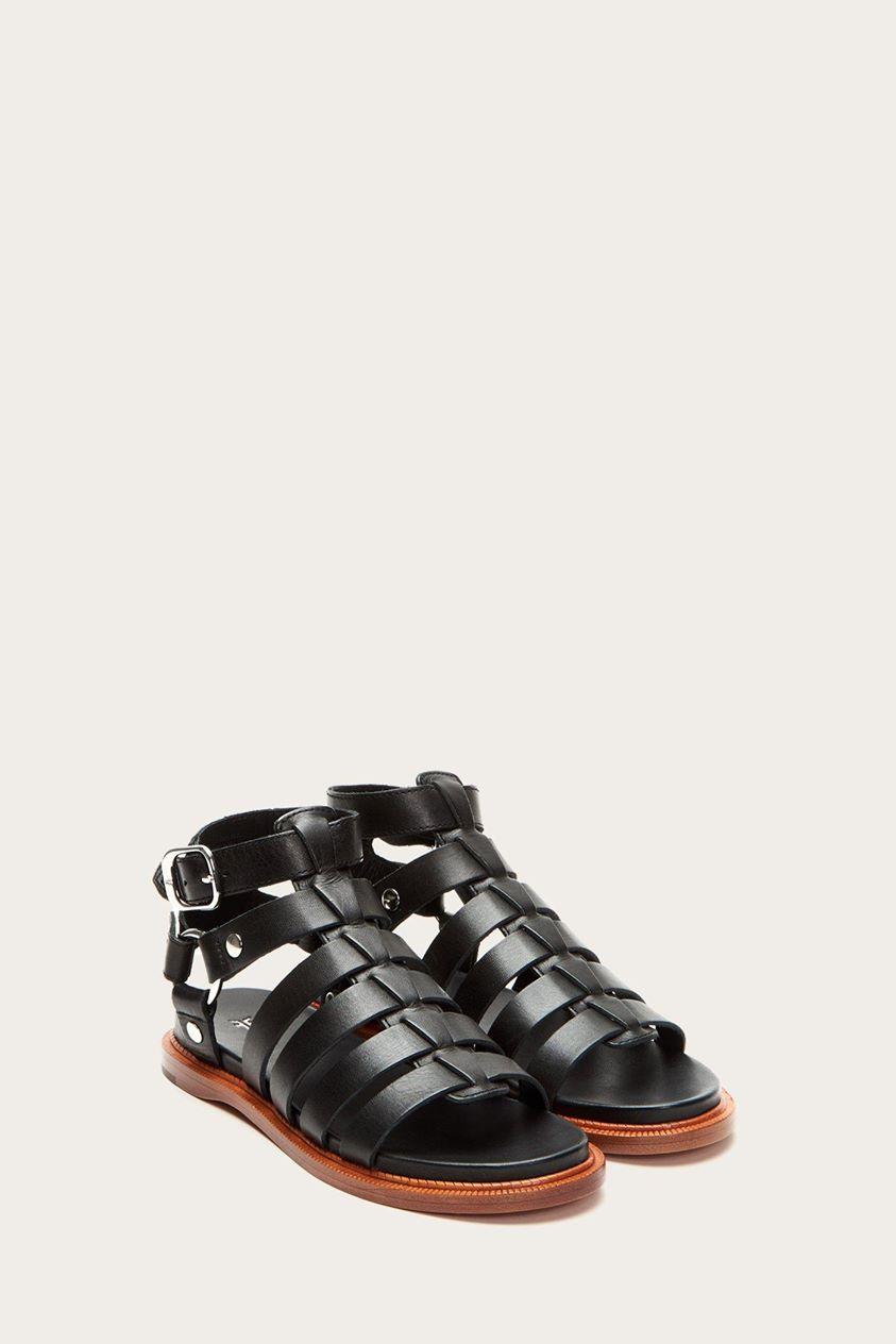 Andora Gladiator - Black Sandal Flat Size 6.5