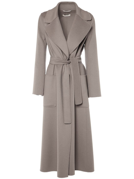 'S MAX MARA Doubled Pure Virgin Wool Coat in grey