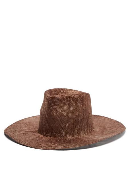 Reinhard Plank Hats - Nana Ramie-straw Hat - Womens - Brown