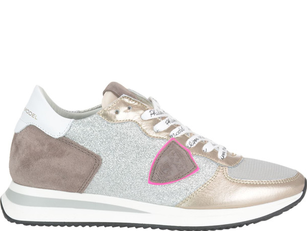 Philippe Model Tropez Sneakers in silver