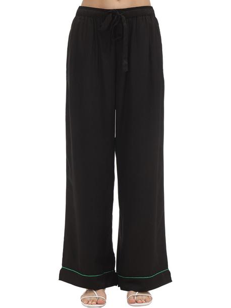 UNDERPROTECTION Lisa Satin Pajama Bottoms in black